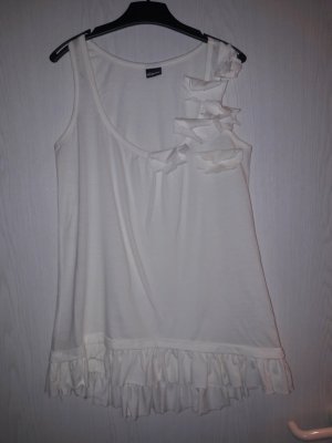Chillytime Top long blanc coton