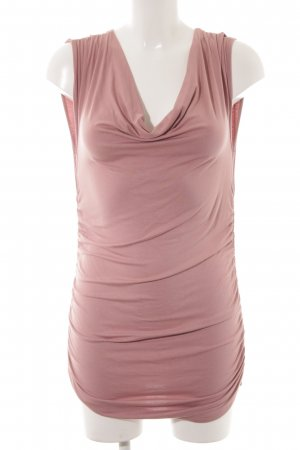 Lange top stoffig roze casual uitstraling