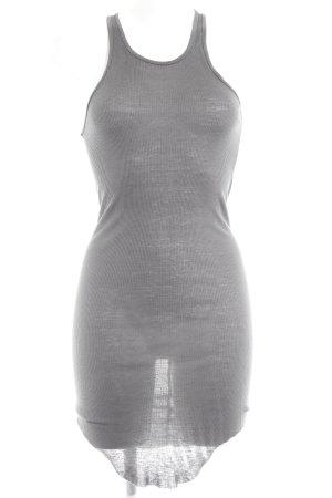 Top long gris anthracite style décontracté