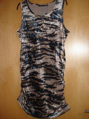 Lange top donkerblauw-donkergrijs Polyester