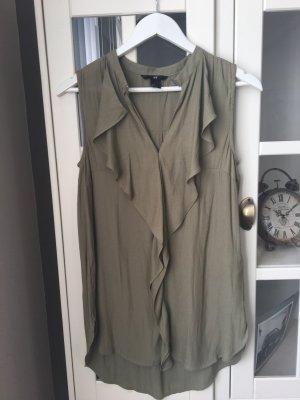 H&M Long Top green grey-khaki