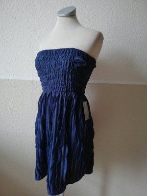 Longtop Minikleid Kleid Top Oberteil bandeau Gr. S 36 neu blau