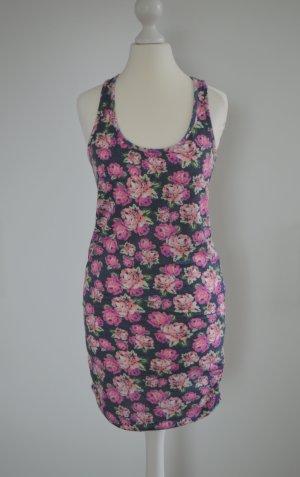Longtop Minikleid mit Blumenmuster Rosen TTD