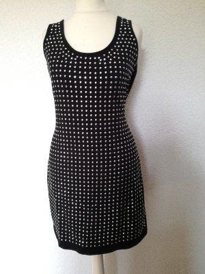 Longtop Minikleid Strass Nieten Long Top Shirt Kleid