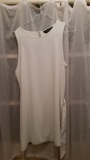 Dorothy Perkins Top lungo bianco Poliestere