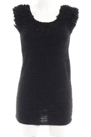 Long Top black glittery