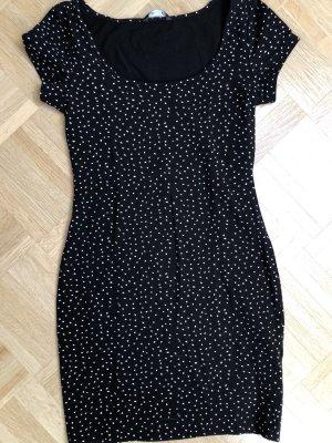 H&M Long Top black-white
