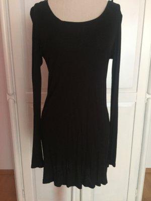 Longtop Shirt schwarz schlicht