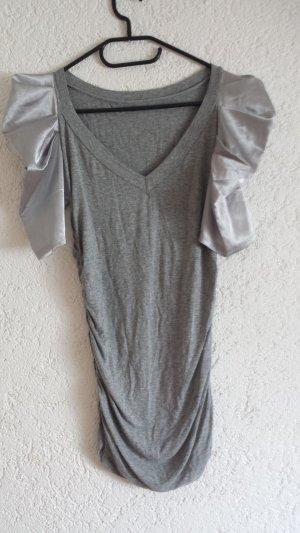 Longtop tailliert grau mit Seidenärmchen SIZE S