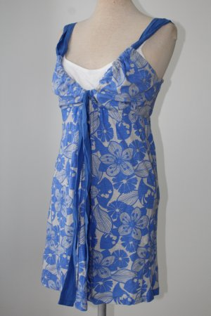 Longtop Top Oberteil Tunika blau weiß Next 100% Baumwolle Lagenlook Gr. 44 XL