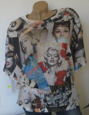 Longtop Tunika Schlupfbluse Shirt Top NEU 38-42