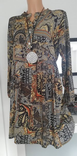 Made in Italy Vestido tipo túnica marrón grisáceo