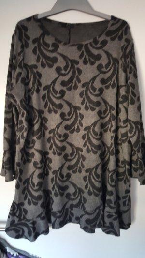 Shirt Tunic black-grey mixture fibre