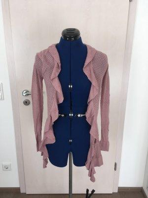 Orsay Lang gebreid vest stoffig roze