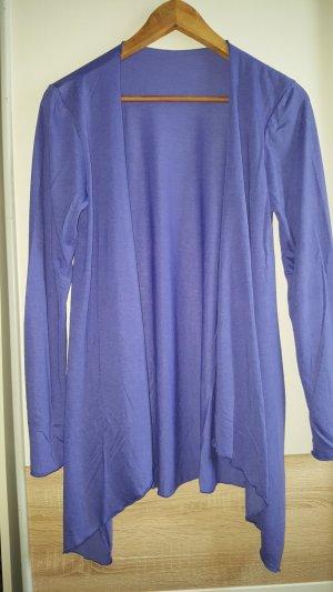 Chaleco de punto largo azul-lila