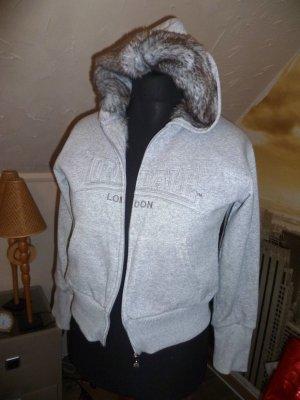Lonsdale Jacke mit Kunstfell kuschelig warm cool Gr 38