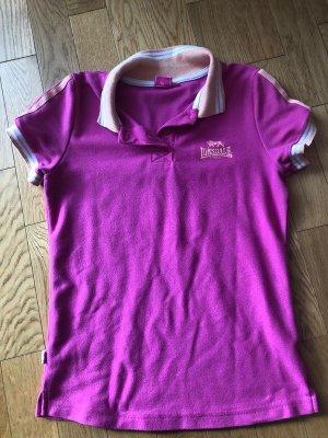 Lonsdale Camiseta tipo polo rosa Algodón