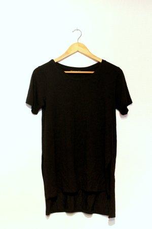 Lonshirt / Vokuhila T-shirt von Bershka - Schwarz Gr. S