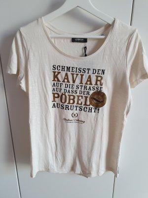Look 54 Camiseta beige claro-blanco puro Algodón