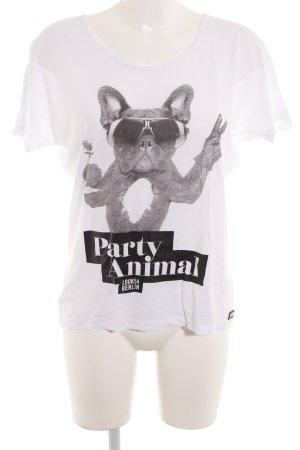 Look 54 T-Shirt weiß Motivdruck Casual-Look