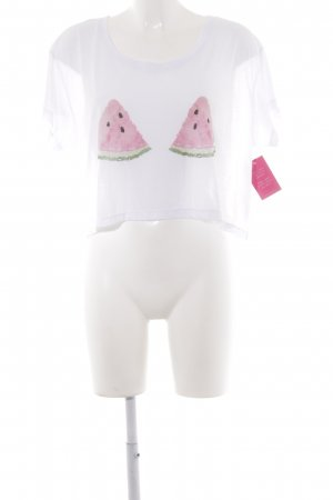 Lookabe Cropped Shirt placed print beach look