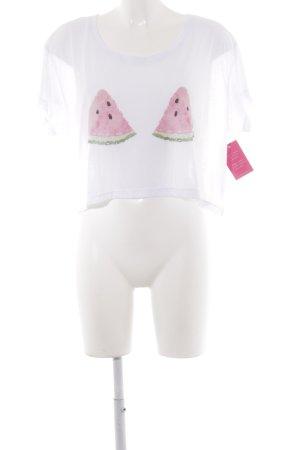 Lookabe Cropped shirt geplaatste afdruk Beach-look