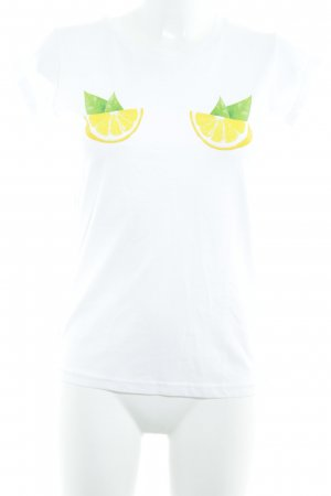 Lookabe T-Shirt weiß Motivdruck Casual-Look