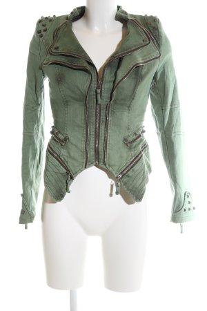 Lookbookstore Denim Jacket khaki casual look