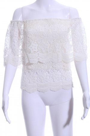 Lookbookstore Lace Blouse natural white casual look