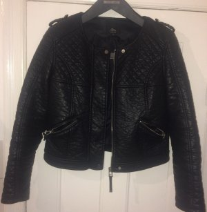 Ann Christine Leather Jacket black-silver-colored