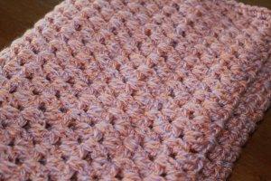 Écharpe ronde or rose-orange clair