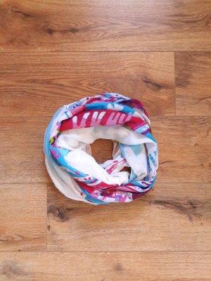Loop Rund Schal Tuch gemustert bunt