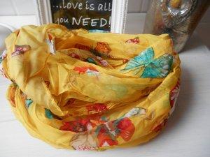 Loop Rundschal gelb Schmetterlinge