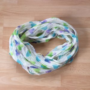 Fraas Écharpe ronde multicolore polyester