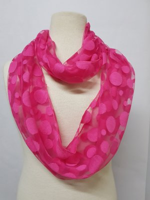 Silk Scarf magenta mixture fibre