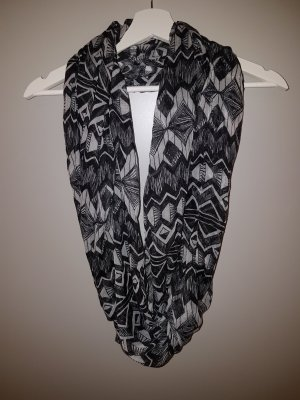 Snood white-black