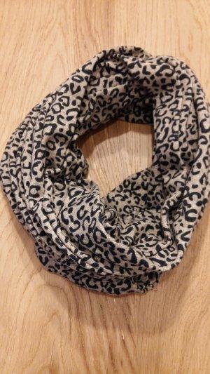 Loop Schal/ beige/ schwarzes Muster