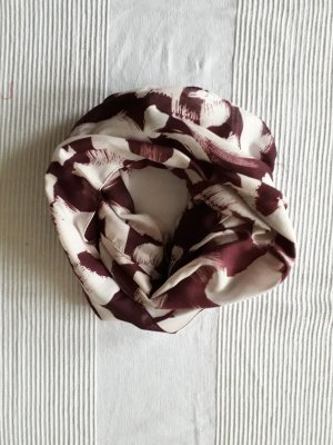 Snood white-blackberry-red