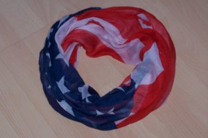 Loop Schal im USA Flaggen Design