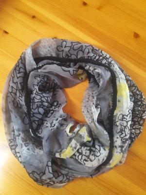 Loop Schal in grau/gelb/schwarz