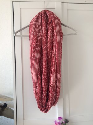 Tube Scarf white-brick red
