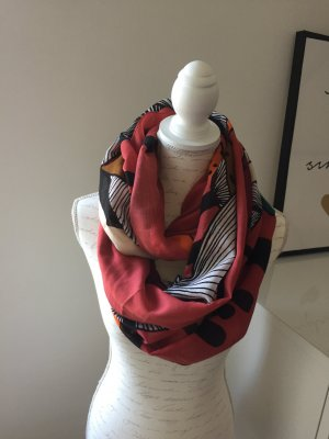 Loop Schal in schwarz, rot, weiß