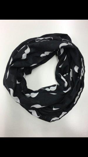 Loop Schal in schwarz / weiß