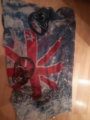 Loop Schal London Flagge Totenkopf