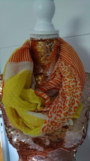 Tubesjaal geel-oranje