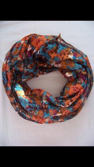Loop-Schal mit Blumenprint