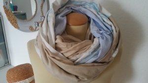 Loop Schal Schlauchschal beige weiß hellblau