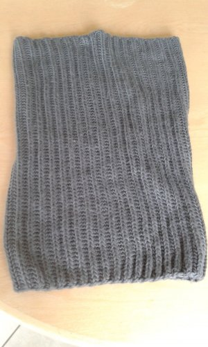 Loop-Schal,Schlauchschal, Schalkragen gestrickt dkl.grau Länge 50 Breite 34 x2