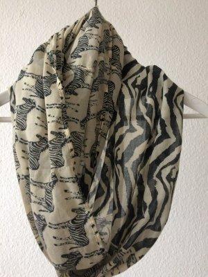 Loop-Schal (Tuch) mit Zebramuster