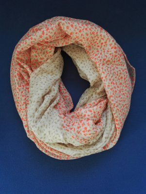 Snood beige-zalm